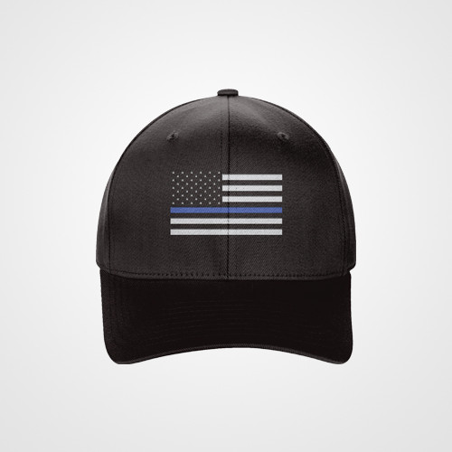 thin blue line american flag hat