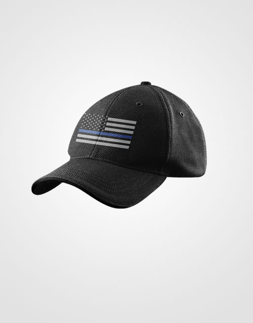 Thin Blue Line Flag Hat Side View