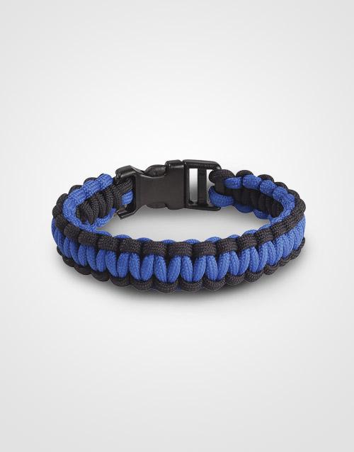 thin blue line paracord bracelet support police. Black Bedroom Furniture Sets. Home Design Ideas