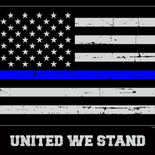 Thin Blue Line Flag Poster 18x24